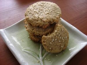 tahini oat cookies