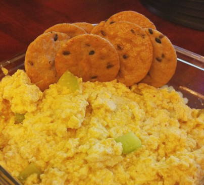 Eggless Salad with Crackers